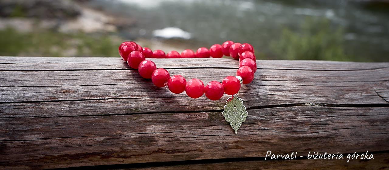Bransoletka czerwona z parzenicą