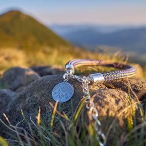 Bransoletka z liny - górski widok