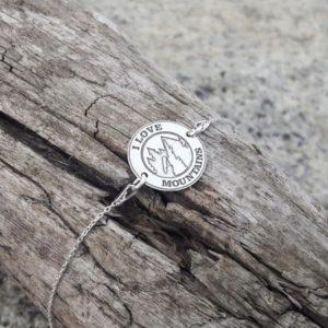 Srebrna bransoletka z górskim wyznaniem
